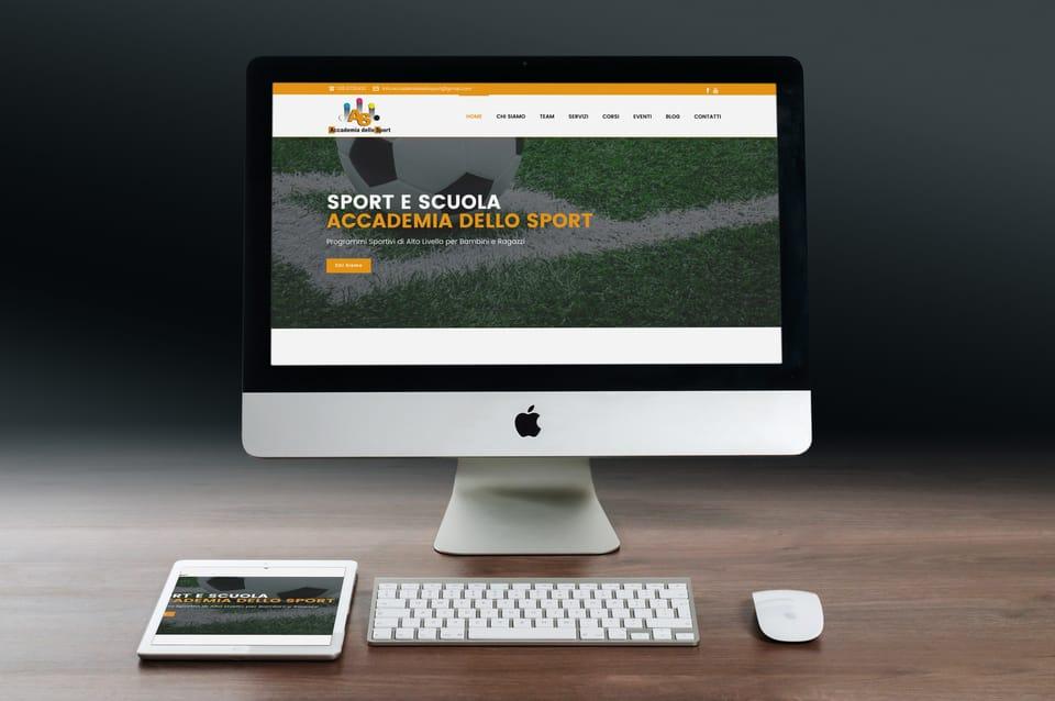 realizzazione sito wordpress organizazzione sportiva torino - DreamRealMedia