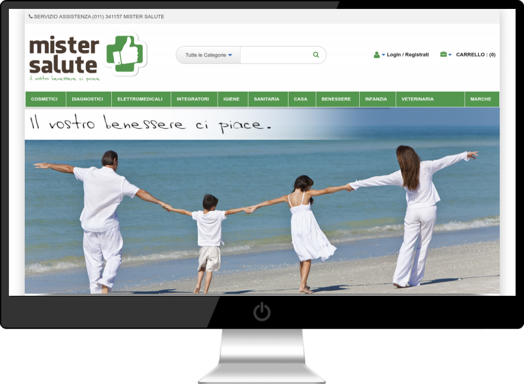 Mister Salute Farmacia Online Sito Ecommerce Wordpress Woocommerce - DreamRealMedia