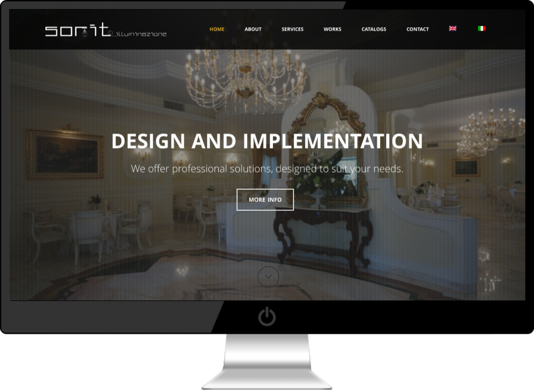 Multilingual Wordpress Website for Sorit Lighting and design company