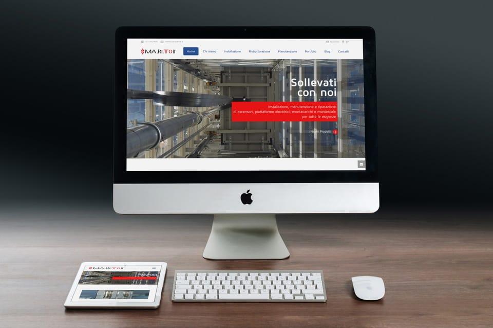realizzazione sito wordpress ditta ascensori torino - DreamRealMedia