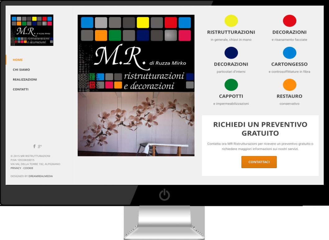 MR Ristrutturazioni Impresa Ristrutturazioni e Decorazioni Sito Wordpress Torino - DreamRealMedia